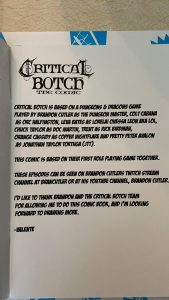 Here's what Critical Botch is